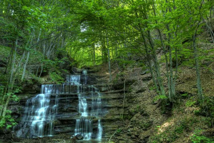 A waterfall at the Casentino National Park