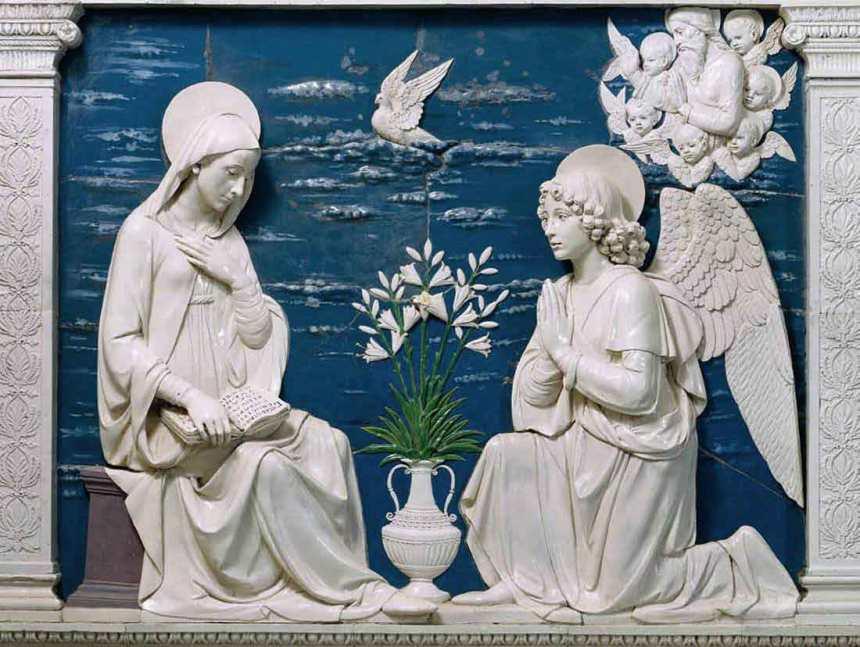 Just one example of the beautiful della Robbia ceramics in the LaVerna sanctuary.